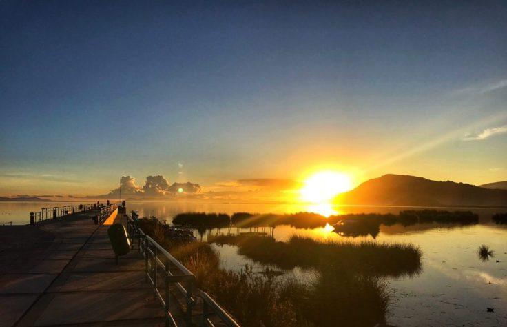 Sunrise on Lake Titicaca Peru