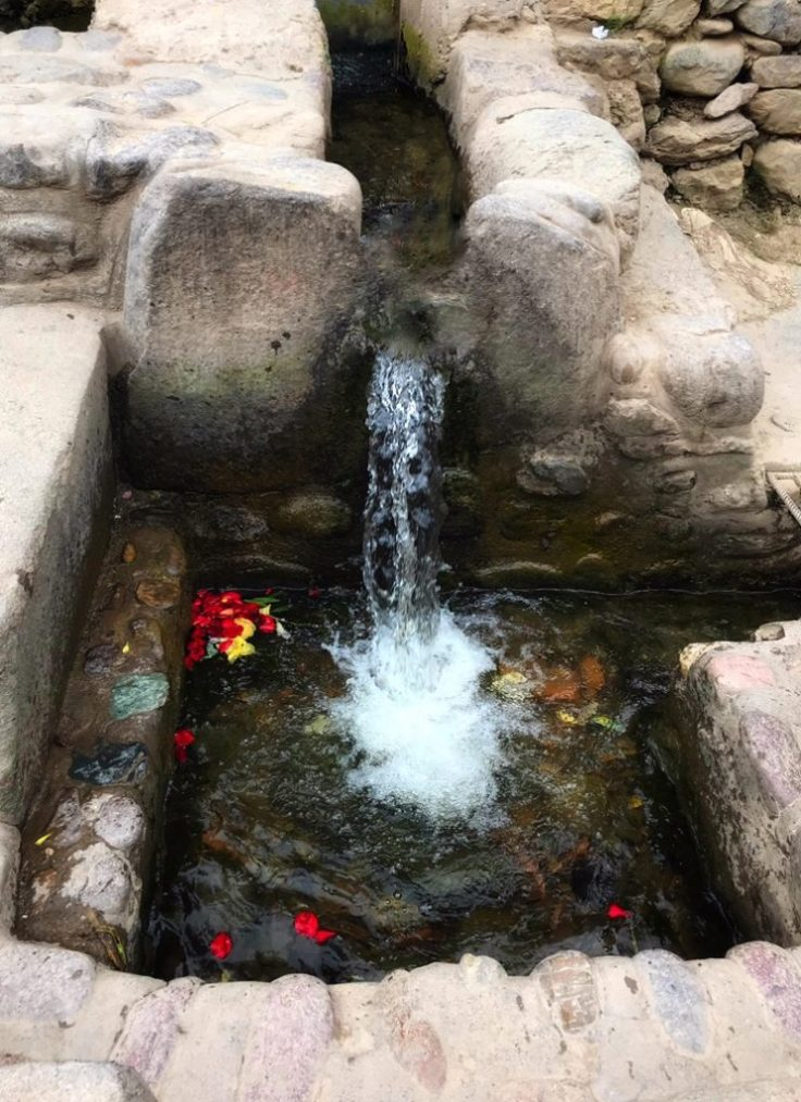 Water channel in the Sacred Valley