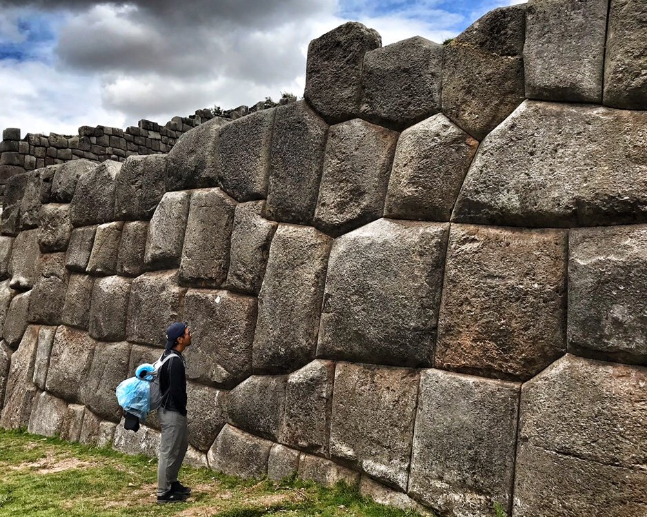 Wall of Sacsayhuamán in the Sacred Valley