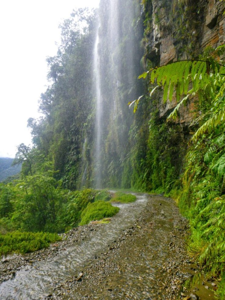 Waterfall on death road