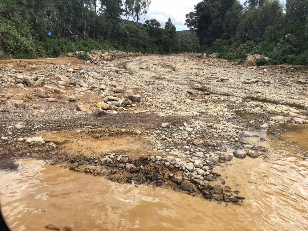 Stream crossing on the way to Torotoro
