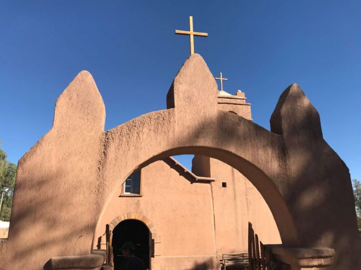 Church near the center square of San Pedro de Atacama