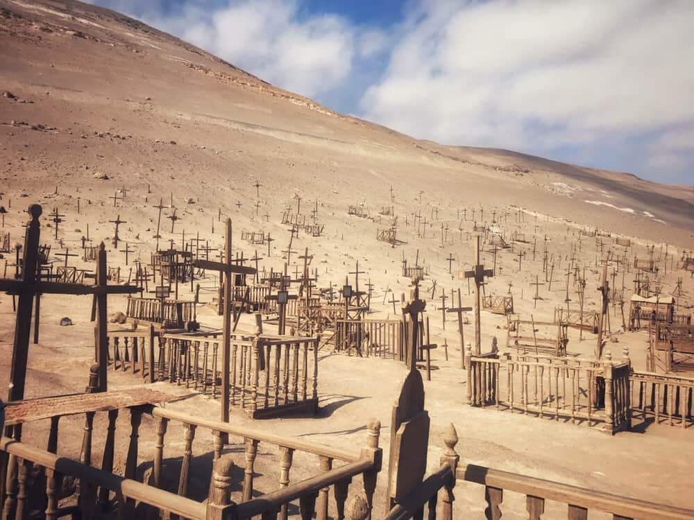 Graveyard of Pisagua in Northern Chile