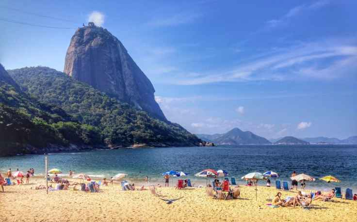 The beach at the base of the Sugar Loaf Monolith