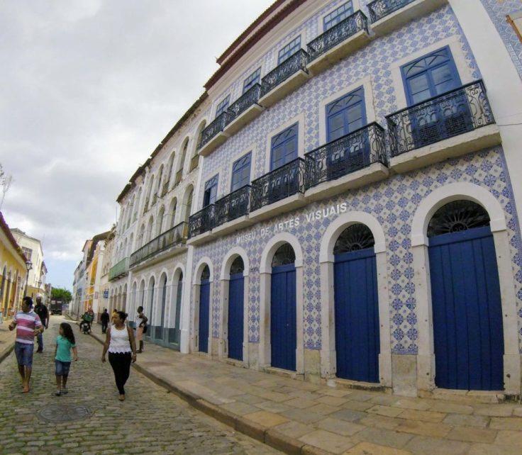 Blue tiled walls in Brazil