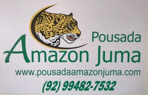 Business card for our Amazon Jungle tour. Pousadaamazonjumma.com