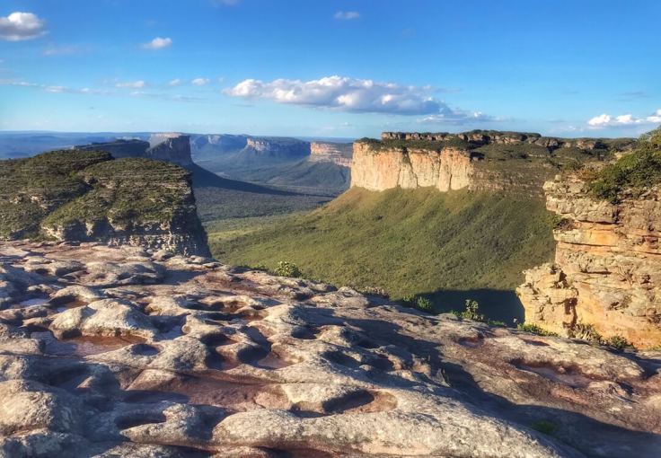 View of Chapada Diamantina from the top of xxx. The highest point in the park