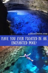 Pin for Pinterest, floating in the Poco Azul