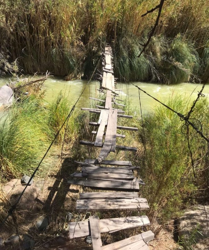 An old unstable bridge in Elqui Valley