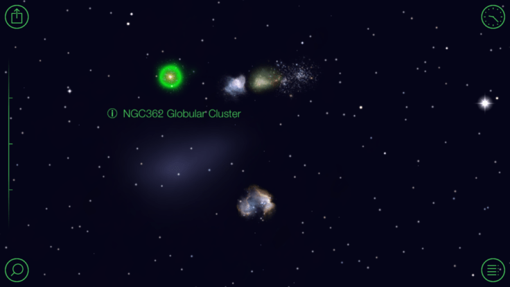 Screen shot of the Star Walk app showing the Globular Cluster