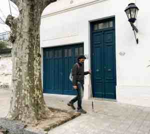 Blue Door in Uruguay representing being Ready to seize opportunity