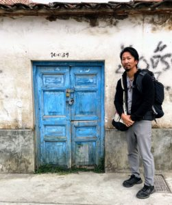 Blue Door in Peru representing being Ready to seize opportunity