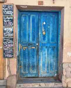 Blue Door in Chile representing being Ready to seize opportunity