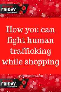 Pin for how you can shop to fight human trafficking