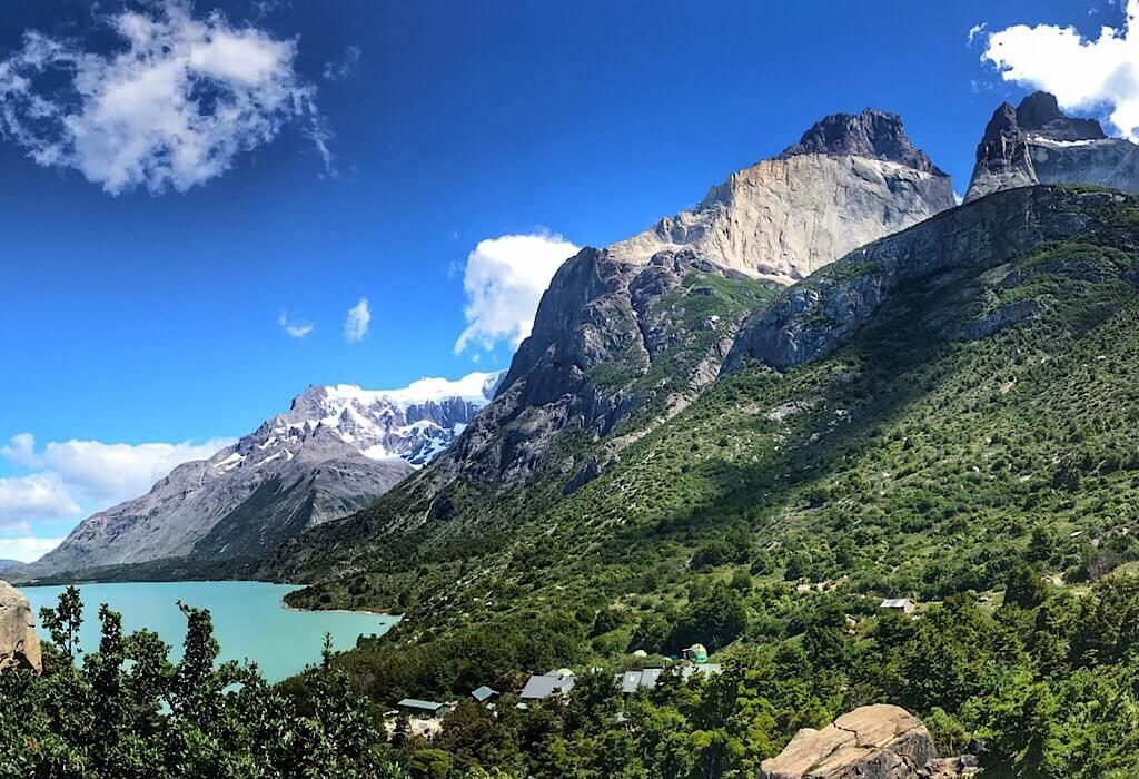 Lake trail on the Torres del Paine W Trek