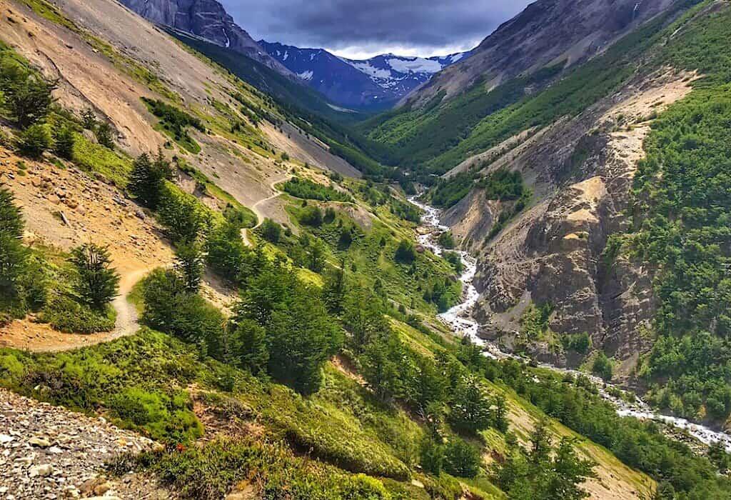 Valley on the Torres del Paine W trek