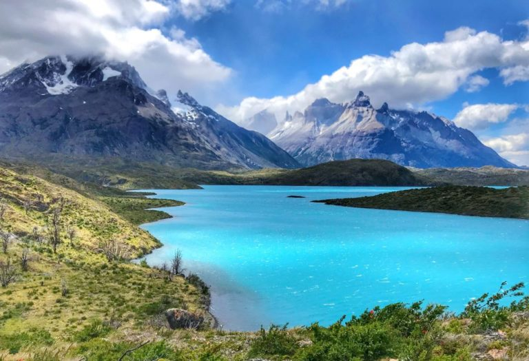 View from the Q end of the trail of Torres del Paine