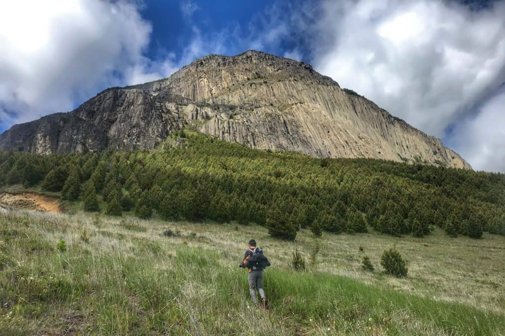 Mountain in Coyhaique with beautiful views in the Patagonia region