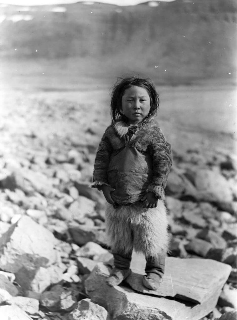 Qaarqutaiaq; a Thule Inuit boy born near Uummannaq in West Greenland. Photo taken in 1909
