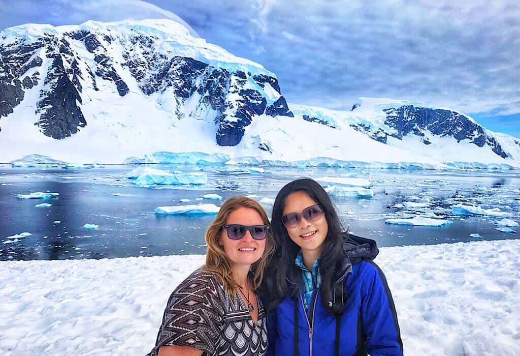 My wonderful roommate Vivian and me on a warm summer day in Antarctica.