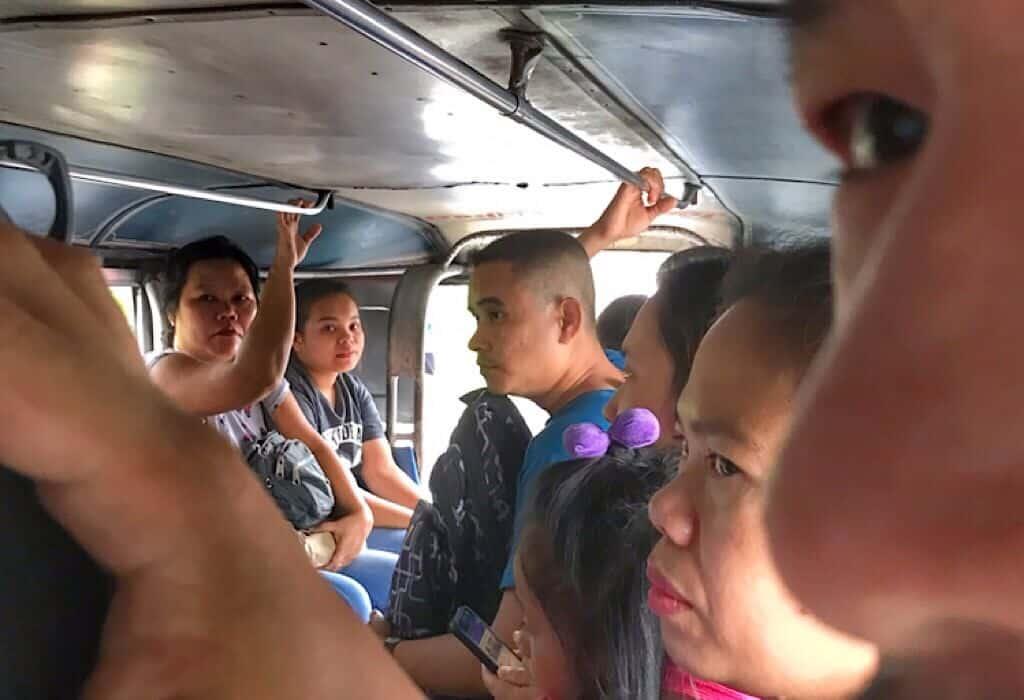 Inside a Jeepney