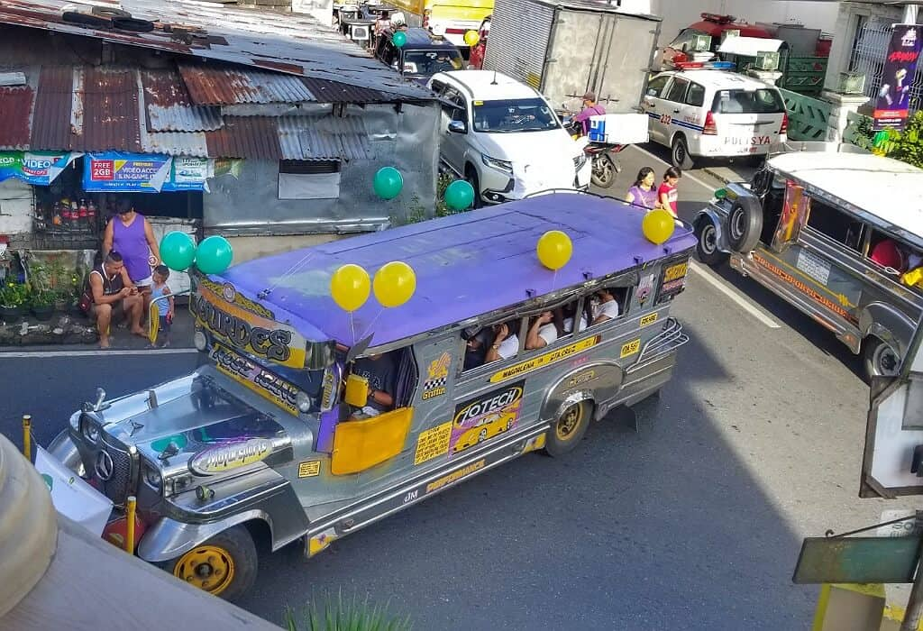Jeepney on a Philippine Street