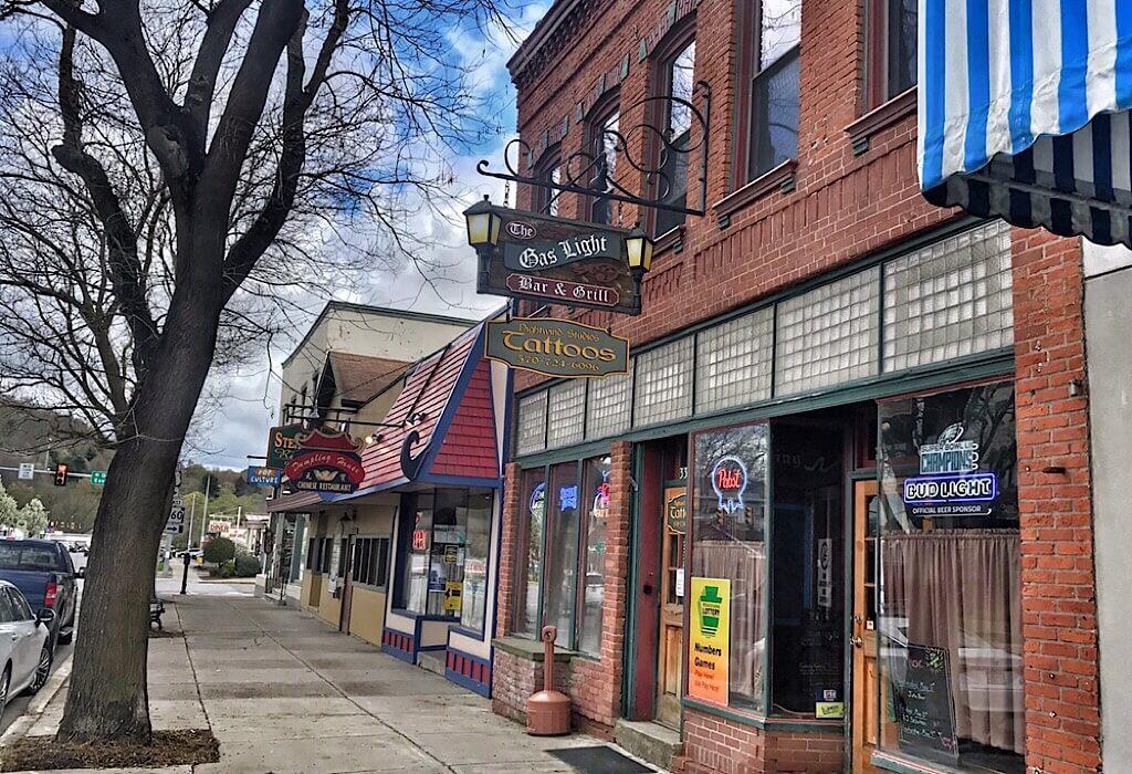 Local shops on the Main street in Wellsboro Pennsylvania