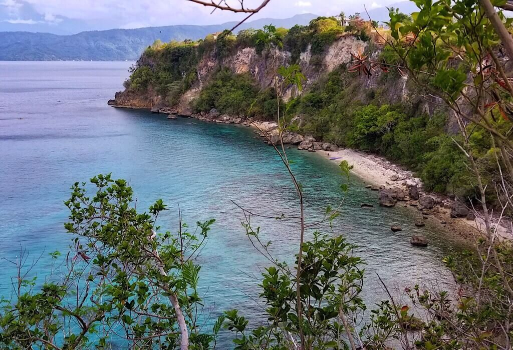 Secluded beach at the end of Puerto Galera