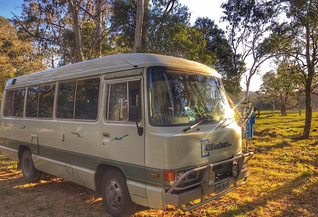 Living in a bus, camping in the outback Australia