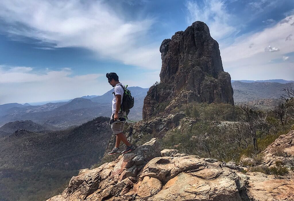 Along the breadknife trail in Warrumbungle National Park, Country New South Wales, Australia