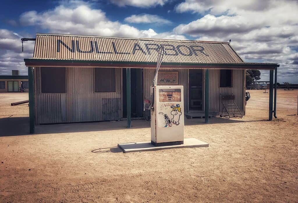 The old Nullarbor Roadhouse with the motel in the background