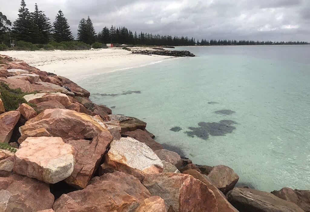 A gray day at the beach in Esperance, Western Australia