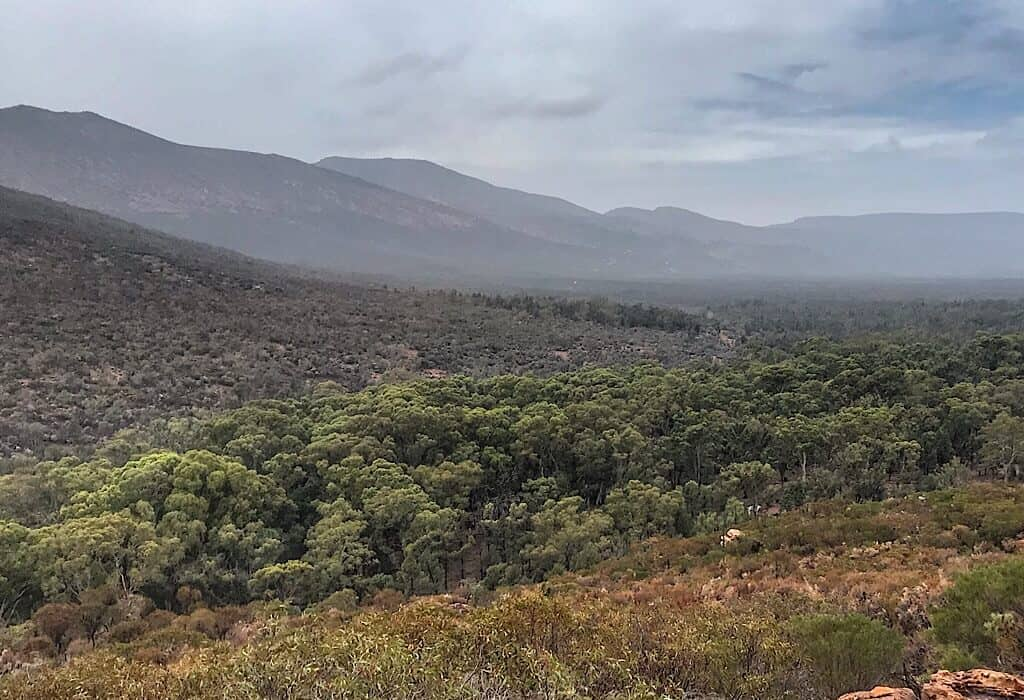 View looking inside the Wilpena Pound in the Flinders Range
