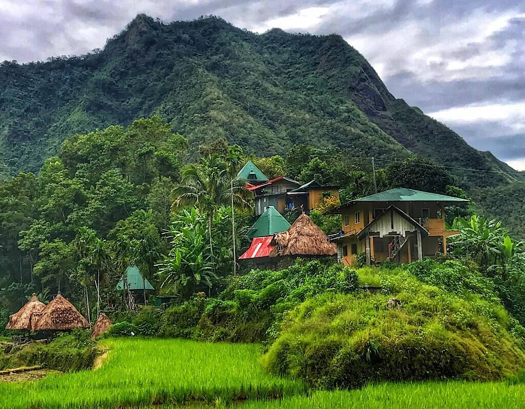 Homes in Batad, Ifugao region of the Philippines