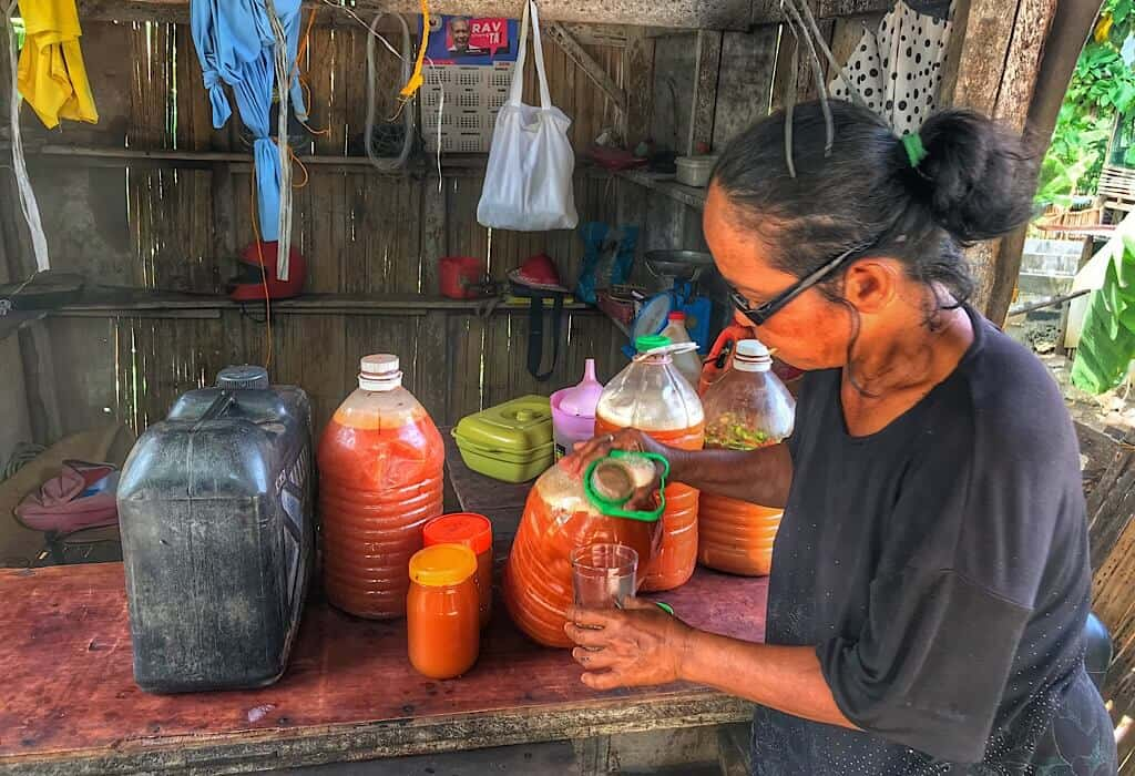 Tuba is a coconut moonshine made and enjoyed by locals in the Philippines