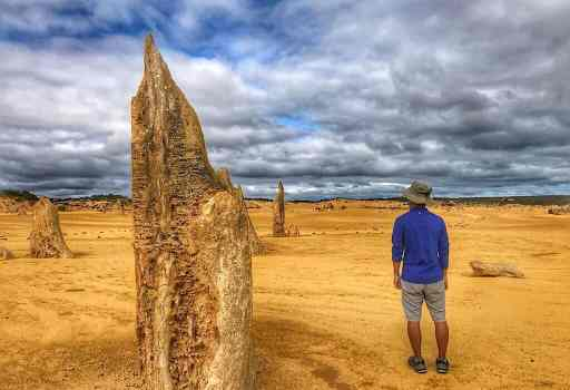 A tall pointed Pinnacle next to Trin in Western Australia