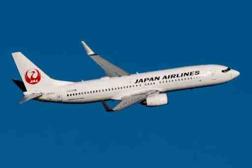 Image of a JAL plane by Masahiro TAKAGI