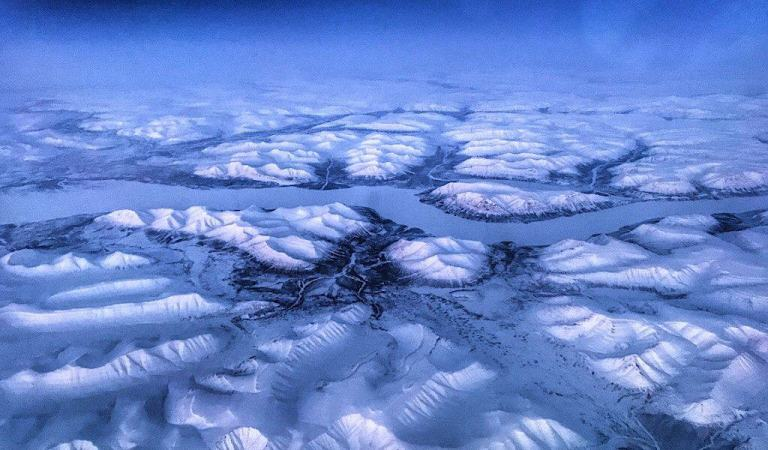 Siberia from the plane