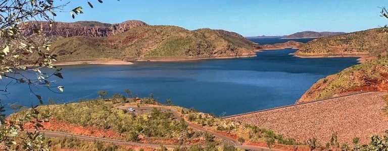 Lake Argyle just inside the border of Western Australia