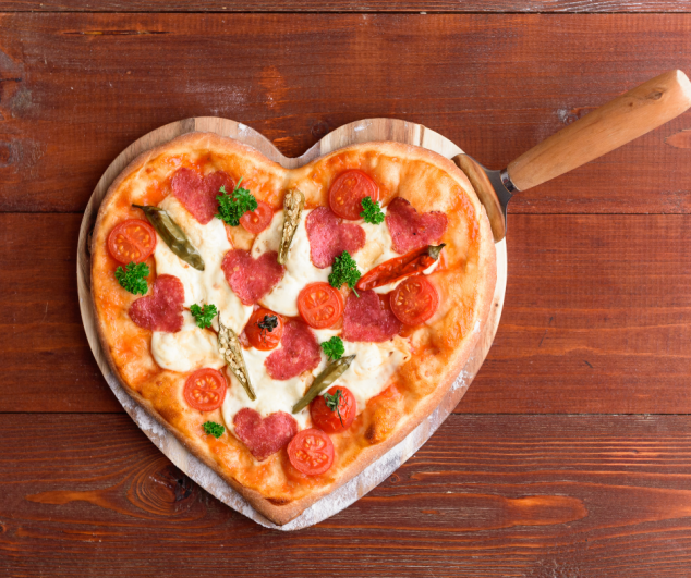 Hearted-Pizza for Valentine's Day