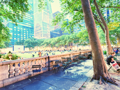 People in Bryant Park