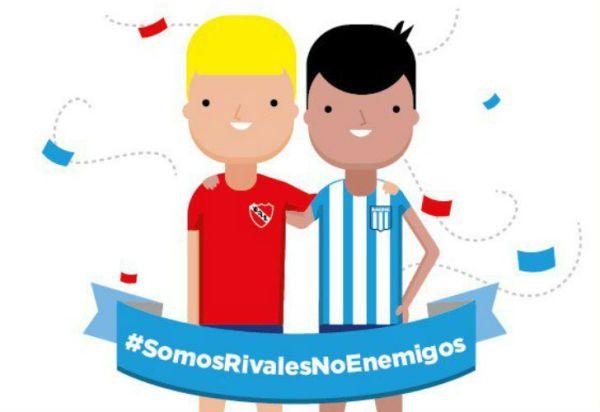 Independiente y Racing dejaron un mensaje de paz antes del clásico
