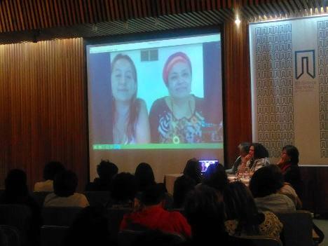 Aspecto del encuentro de mujeres. Foto Renata Cabrales.