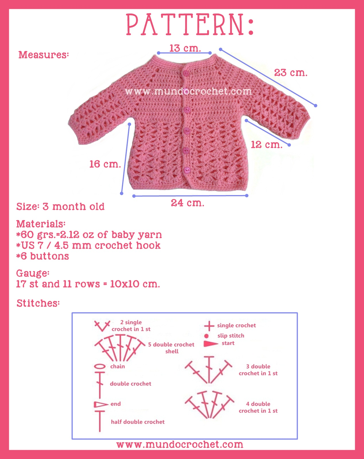Jacket or sweater archives mundo crochet i hope you like it dont forget to send me the pictures of your projects using this pattern to soledadmundocrochet o share them in the facebook page ccuart Image collections
