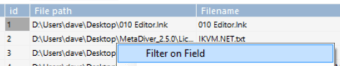 FilterOnField1