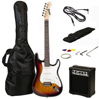 RockJam RJEG02-SK-SB Electric guitar Starter Kit - Includes Amp, Lessons, Strap, Gig Bag, Picks, Whammy, Lead and Spare Strings