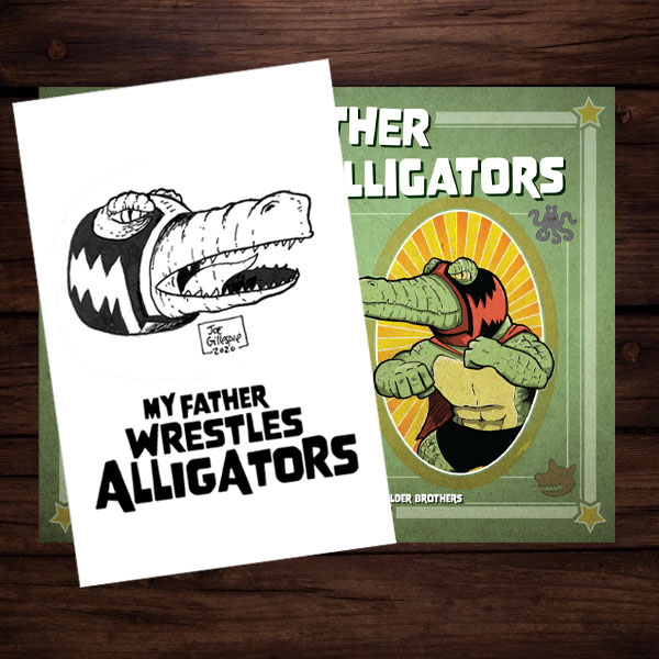 Sketch Card Bundle featuring Lucha Gator and My Father Wrestles Alligators