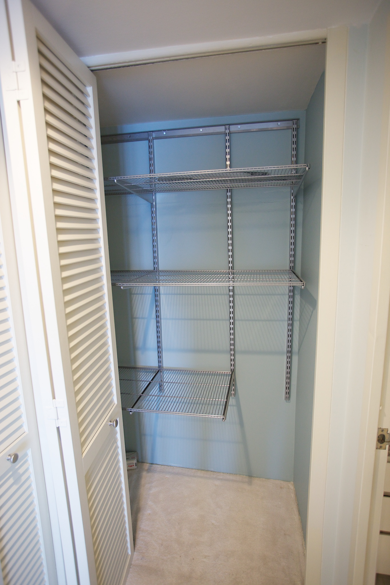 View Of 2nd Hall Closet W Elfa Closet System 4545