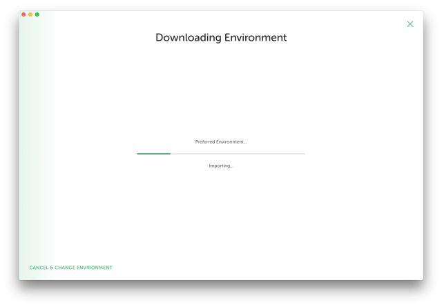 Downloading Local environment