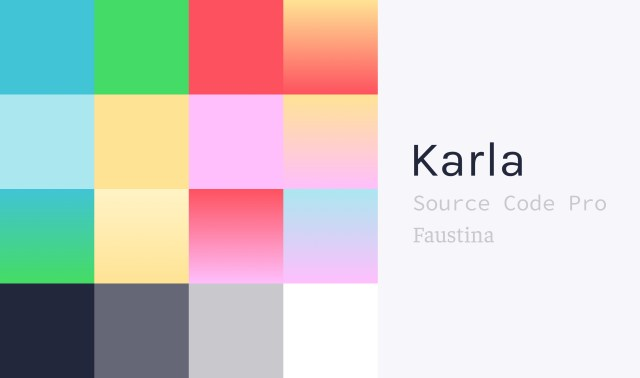 An updated color palette and typography